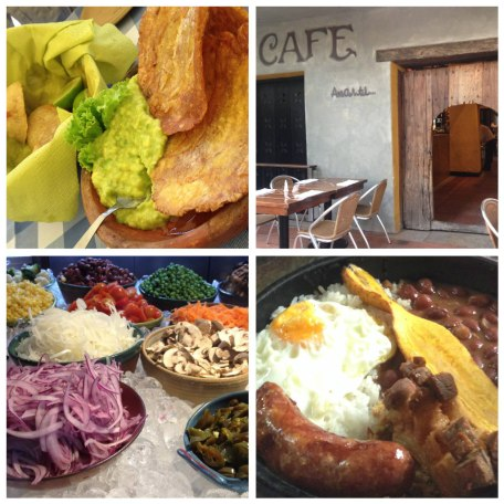 Colombia food collage