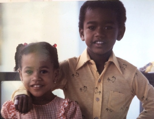 Valeska and her brother Kurt just after moving to St. Maarten.