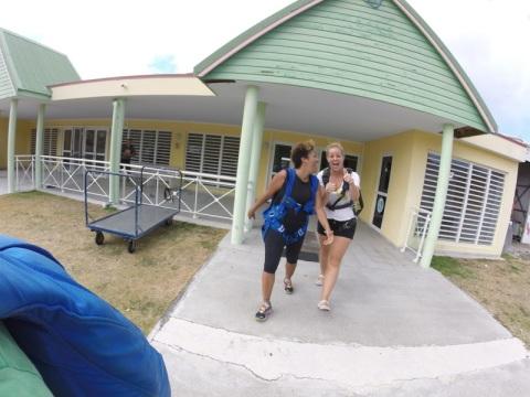 walking to skydiving exerience