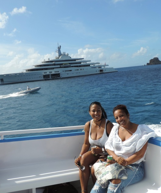 On ferry to St. Barth