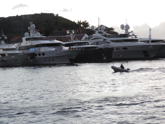 Yachts in Gustavia Harbour