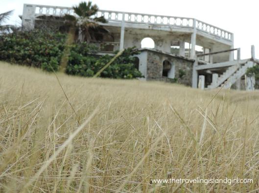 Remnants of a party villa