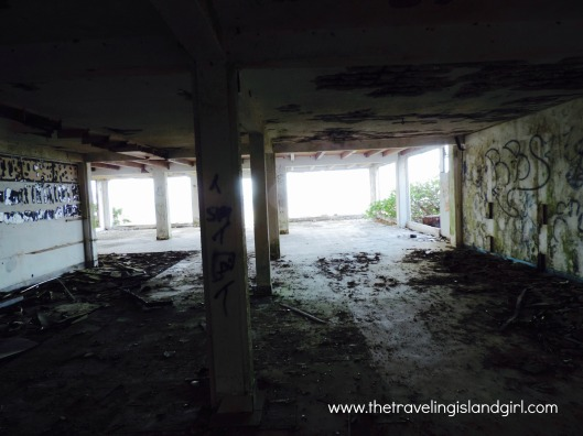 Ruins of a resort in Oyster Bay