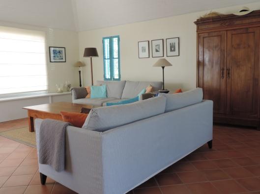 Living room at Villa Blue Rock