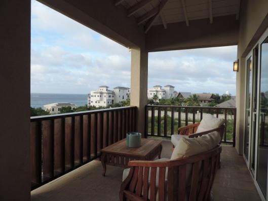 Balcony outside main bedroom