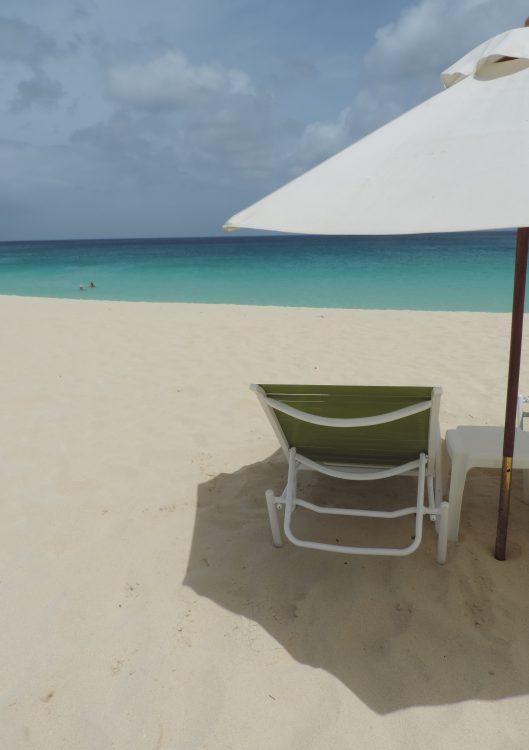 Single chair on the beach