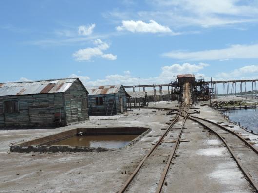 A still active salt mine close to Playa Salinas