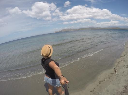 Beautiful hills in the distance at Playa Salinas